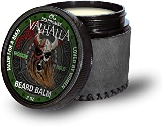 Beard Gains Medium Butter Hold Scented Balm for Men 2oz   Valhalla Luxury Vikings Conditioner   Style, Groom & Grow Facial Hairs W/ Organic and Natural Product   MADE IN USA (2oz)