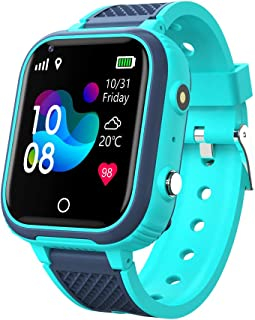 4G smartklocka barn, WIFI IP67 vattentät pekskärm pojkar flickor WiFi Bluetooth armbandsur med GPS WiFi LBS spårare realti...