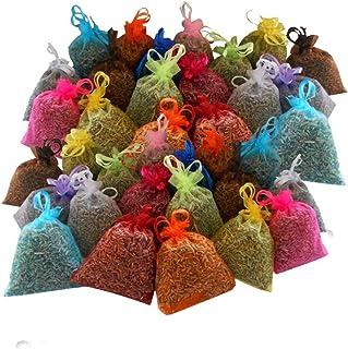 36 sacchettini di organza multicolor, ciascuno riempito con 10 g di pura lavanda (360g)