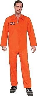 Adult Orange Prison Suit Unisex Costume