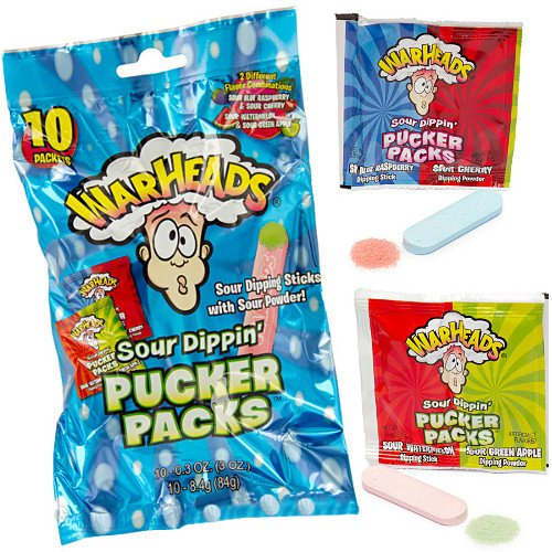 WarHeads Sour Dippin' Max 82% OFF Pucker Candy Box 120-Piece Pack OFFicial shop Packs: 10