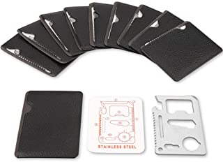11 in 1 stainless steel card pocket survival tool(10 pack)