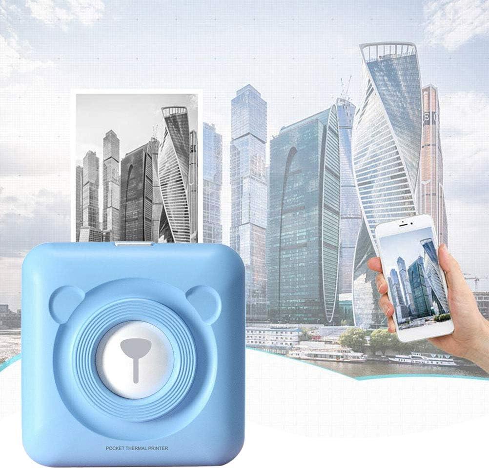imprimante de Poche d/étiquettes Photo Bluetooth avec 6 papiers dimpression compatibles avec Tous Les Smartphones BST/&BAO Mini imprimante de re/çu Thermique Portable