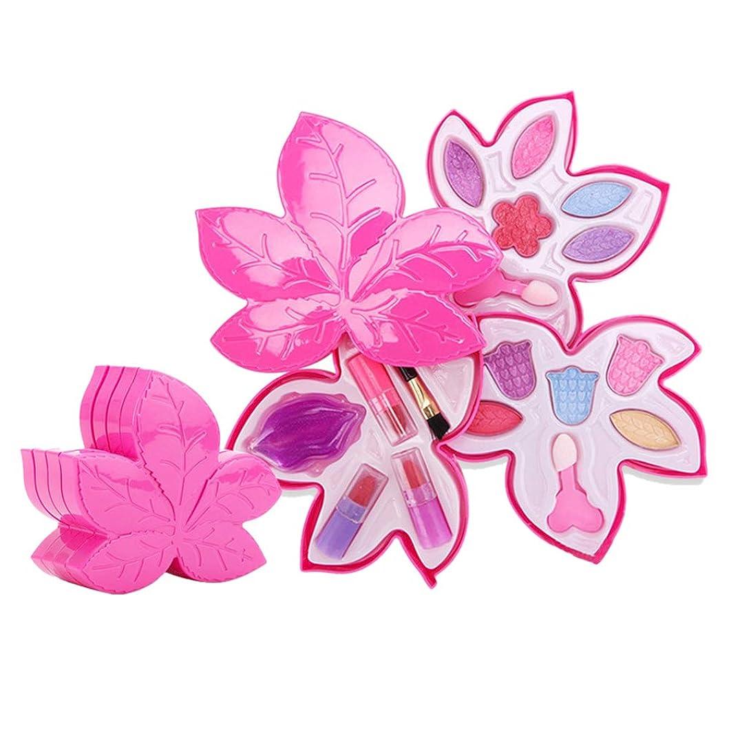 感嘆符パーティー郵便Toyvian 女の子メイクアップセットメイクアップリップスティックアイシャドウおもちゃ誕生日パーティー子供ギフト(メープルリーフ型化粧品ギフトボックス4層)