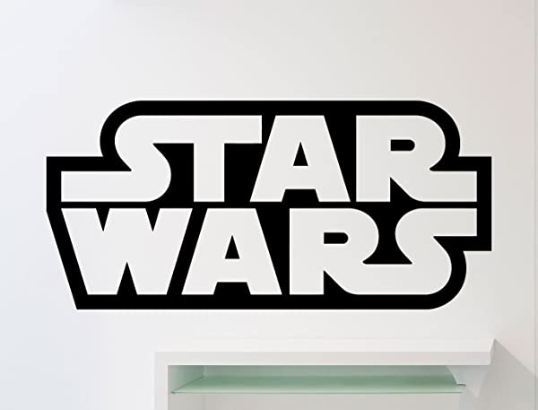 Star Wars Logo Wall Decal Star Wars Emblem Word Movies Vinyl Sticker Home Nursery Kids Boy Girl Room Interior Art Decoration Any Room Mural Waterproof Vinyl Sticker 262xx
