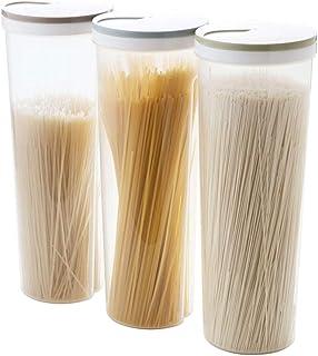 RENNICOCO Caja de Almacenamiento pl/ástica de los tallarines de los Fideos de Las pastas de los Espaguetis multifuncionales Palillos Tenedor del envase con Las Tapas