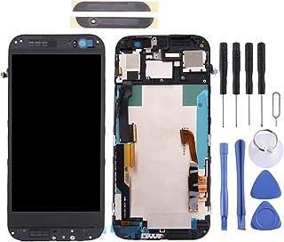 شاشة الهاتف المحمول LCD LCD Screen and Digitizer Full Assembly with Frame & Front Glass Lens Cover for HTC One M8 (Top+Bot...