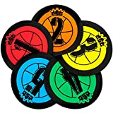 Crown Sporting Goods Hot Shot Training Markers, 5-Pack - 7.5' Basketball Training Spots - Round Flat Number Dots for Youth & Adult Team Sports