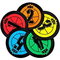 Hot Shots 19cm Basketball Training Markers, Pack of 5 by Crown Sporting Goods