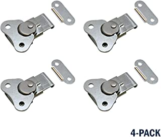 Butterfly Twist Latch/Clamp & Keeper Small (4 Pack Zinc)