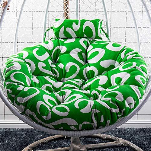 N /A Chaise en rotin, coussin de hamac, coussin rond doux et confortable à suspendre, coussin de siège, coussin de siège, coussin épais lavable pour balancelle de jardin en osier
