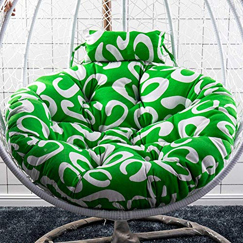 Chaise en rotin N /A, coussin de hamac, coussin doux et confortable, coussin de chaise suspendue, coussin de siège épais, lavable, coussin de chaise nid en osier, J