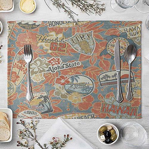 JIAYAN Ustensiles de Cuisine 40x30cm Lettre Animale Tapis de Table imprimé pour Accessoires de Cuisine à la Maison napperons de Salle à Manger créatifs napperon Enfant, 8