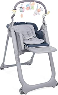 comprar comparacion Chicco Polly Magic Relax - Trona/hamaca compacta con barra de juegos, 4 ruedas, color azul (India Ink)