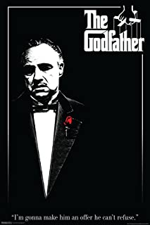 The Godfather Red Rose Movie Poster 12x18 inch