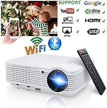 LED HD Video Projector Bluetooth Android 6.0 WiFi 3900 Lumens WXGA, 200