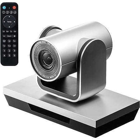 サンワダイレクト WEB会議カメラ 3倍ズーム 210万画素 フルHD Zoom Skype対応 左右350°回転 広角 USB接続 ケーブル5m リモコン付き 400-CAM071