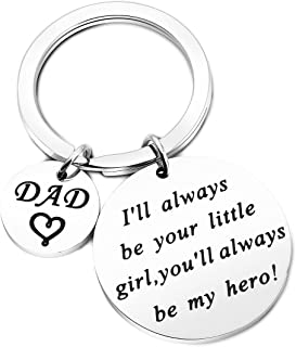 WUSUANED I'll Always Be Your Little Girl You'll Always Be My Hero Dad Keychain