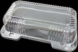 "DART - C35UT1 Clear Hinged Lid Plastic Container 9""x 5 3/8"" x 3 1/2"" (25)"