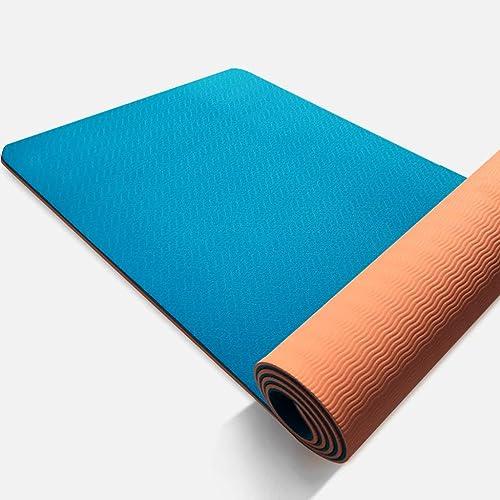 Tapis de Yoga TPE Tapis de Yoga élargi épais Hommes et Femmes Tapis de Remise en Forme Tapis de Yoga débutant antidérapant Maison LJJOZ (Couleur   A, Taille   8mm)