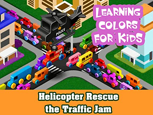 Learning Colors For Kids - Helicopter Rescue the Traffic Jam