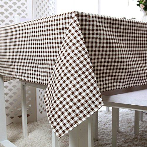 Coton et lin Brown Toile multi-dimensionnelle Toile de couverture multifonction , 140x180cm