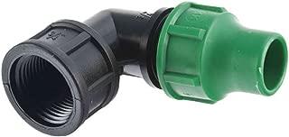 para Tubo de 16 mm Color Negro Desconocido GF 06602-Empalme acodado Salida