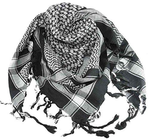 Harrys-Collection PLO Tuch in 20 Farben 100% Baumwolle dick, Schwarz-weiss, Einheitsgröße