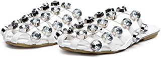 CAPE ROBBIN Coma-17 Jeweled Mule Caged Flat Slip-on Fashion Slide Sandal