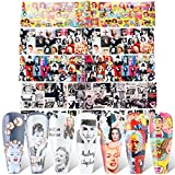 10 Sheets Internet Star Nail Foil Transfer Sticker Marilyn Monroe、Audrey Hepburn、Taylor Alison Swift Nail Art Sticker for Women Kids Girls Foils Transfer DIY Manicure Nail Decorations
