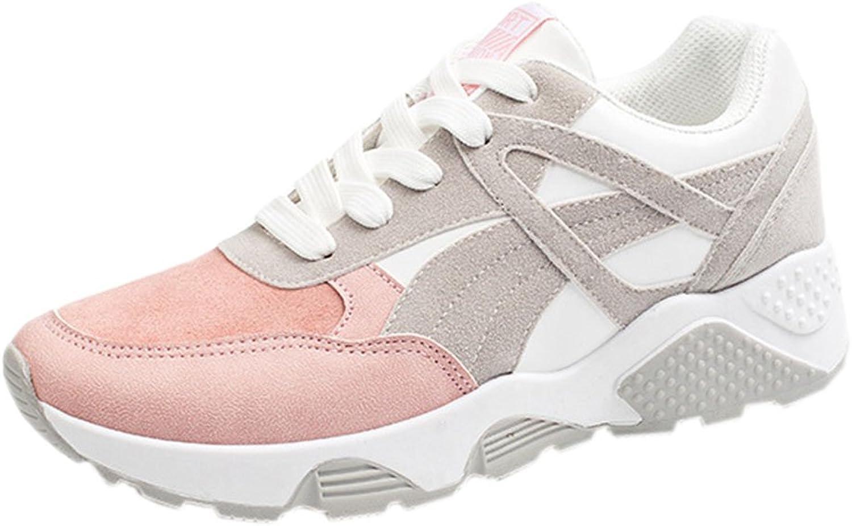 Vokamara Women Pink Wedge Sneaker Fashion Gym Athletic shoes