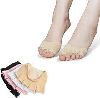 Half Hidden Finger Anti-Slip Sweat Absorption Applicable to Women Yoga Socks,Fully Breathable
