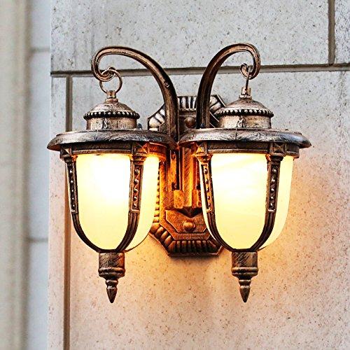 Buitenverlichting wandlamp dubbele kop Villa Europese Villen en terras beschikt over een poort retro wandlamp wandlamp