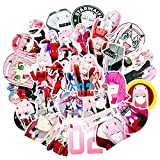 Darling In The Franxx Cartoon Anime Stickers Decal para Skateboard Equipaje Refrigerador del coche Laptop Diy Toy 49Pcs / Set