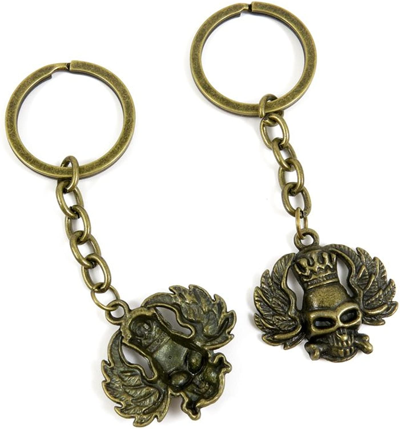 150 Pieces Fashion Jewelry Keyring Keychain Door Car Key Tag Ring Chain Supplier Supply Wholesale Bulk Lots H1PQ4 King Skull