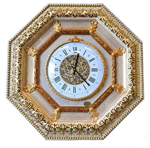 ITALIA CORNICI Wall Clock Wanduhr Klassische Wand Quarz Holzrahmen Dekorationen Wohnzimmer Schlafzimmer Haus, Original Weihnachtsgeschenk Geburtstag Made in Italien Durchmesser 30 cm Abmessungen 70x70