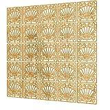 Separadores Ambientes Paneles de 25 Piezas - 197x197cm - Amarillo Paneles De Separacion De Ambientes Sector Separadores Oficina Biombo para Estantes De Armario Empotrado