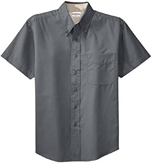 a9c399cc Men's Short Sleeve Wrinkle Resistant Easy Care Button Up Shirt
