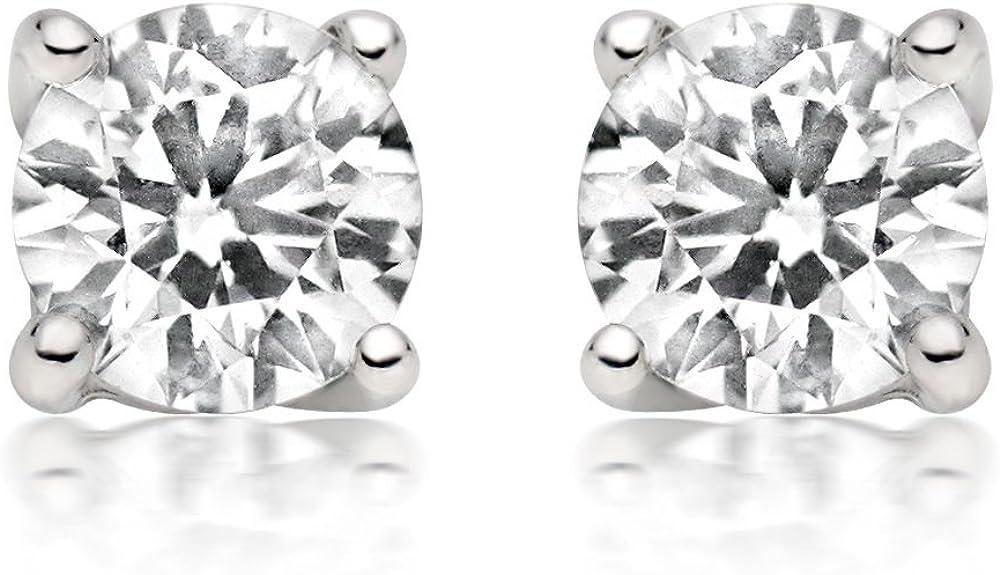 1/4ct tw Diamond Stud Earring in 14k White Gold (I-J-K/I2-I3)