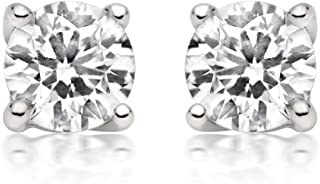 1/4ct tw Diamond Stud Earring in 14k White Gold (I-J-K/I2-I3)