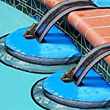 ALLADINBOX 2 Pack Animal Saving Escape Ramp for Pool, Floating Ramp Rescues, Frog Log Pad, Pool Animal Saver, Pool & Spa Accessories & Tools, Saving Critters, Frogs, Toads Animal Mice, Birds, Blue