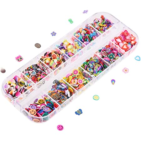 Amazon Com Ccinee Nail Art Slice With Fruit Flower Food Slice Assorted Designs Polymer Clay Nail Decoration Slice For Slime Diy Craft Projects Decoration Beauty