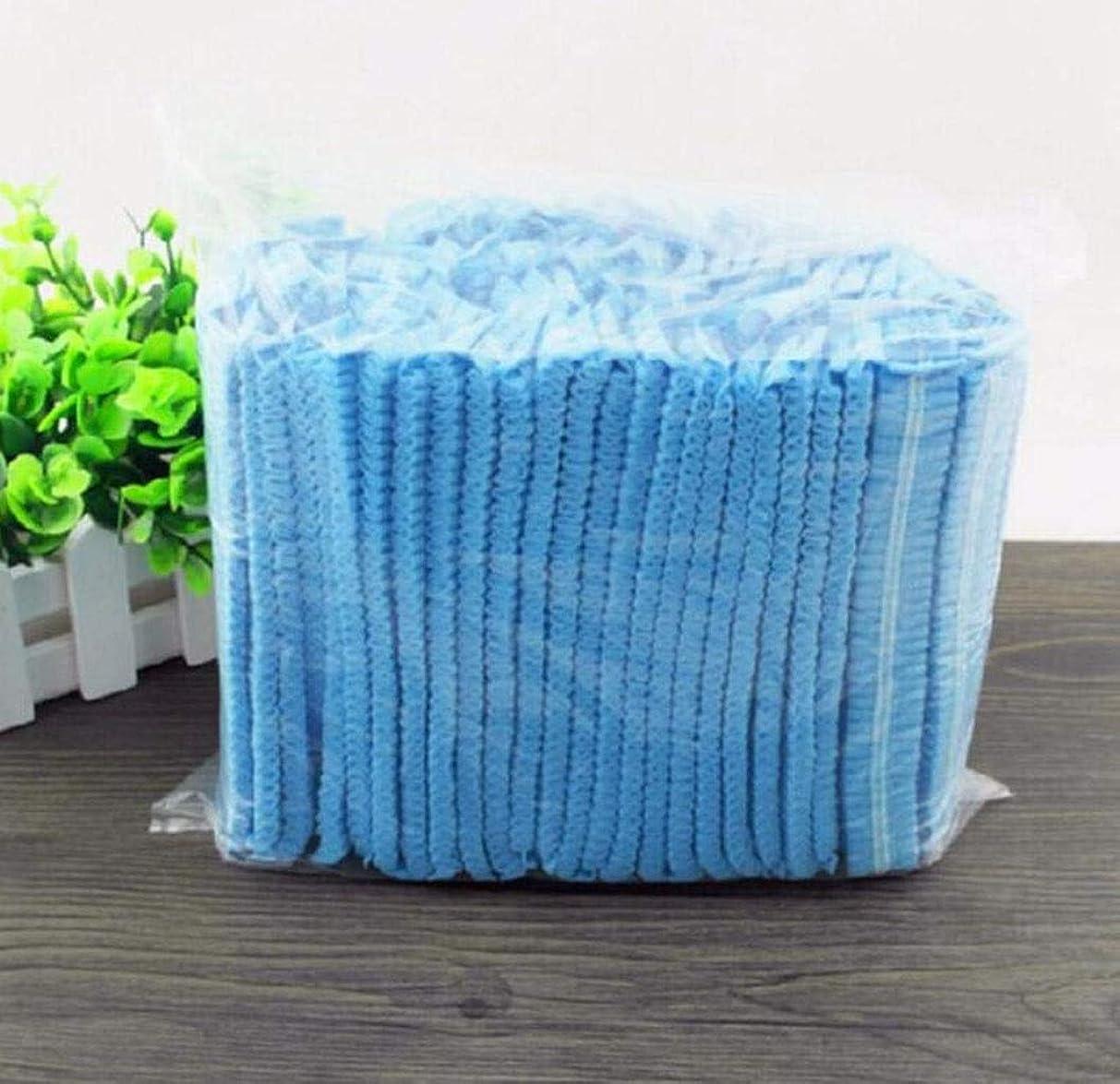攻撃ゲートウェイ注文食品産業病院用使い捨て不織布ストリップキャップ不織布キノコキャップ使い捨てダストキャップ(300) (Color : Black)