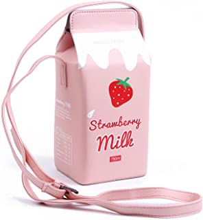 Girls Fruits Banana Strawberry Milk Box Cross Body Purse...