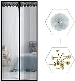 Screen Doors with Magnets Black, Hands Free Magnetic Screen Door Mesh Curtain Heavy Duty,34x78in/85x195CM