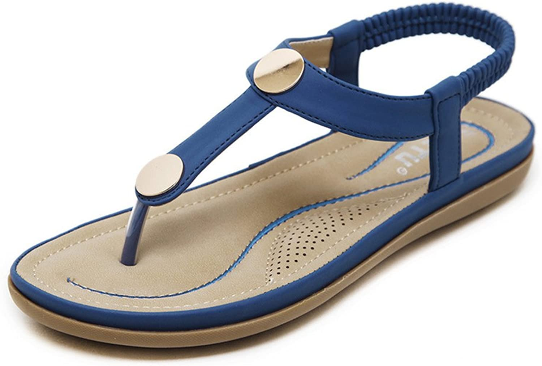 Hanglin Trade Sandals Women Bohemia Beads Summer shoes Wild Casual Beach Flats Flip Flops shoes