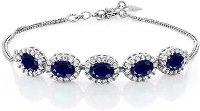 gemstone bracelet Dainty splinter bracelet with ametrin and spinel 925 silver