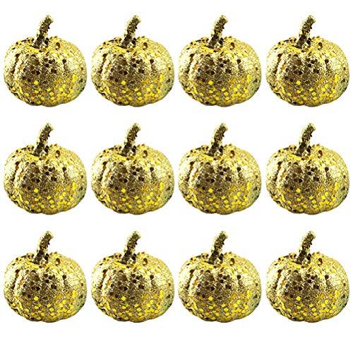 WINBST Herbst-Deko Zierkürbis Deko-Kürbisse Herbst und Home Decor Künstliche Leinen Kürbis Tisch Ornamente Kürbis Deko