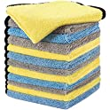 12-Pack HOTOR 16 x 16 Large & Thick Microfiber Cleaning Cloths