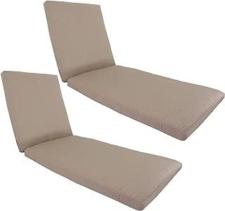 kingrattan.com Made in USA Outdoor Patio Chaise Lounge Cushion 26